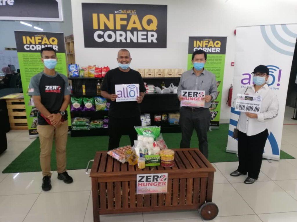 Allo Technology sumbang RM10,000 kepada Projek Zero Hunger